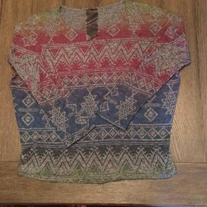 Moon Collection Sweaters - Aztec Rainbow sweater size large